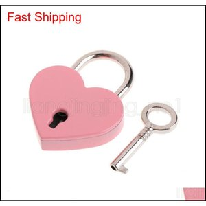 Heart Shape Padlocks Vintage Old Antique Style Mini Archaize Key Lock With Key For Handbag Small Luggage Bag Acc qylDyJ yh_pack