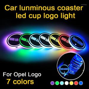 2PCS LED حامل كأس السيارة لشعار الضوء ل Astra J G Insignia Corsa D Zafira B Mokka Meriva Accessories1