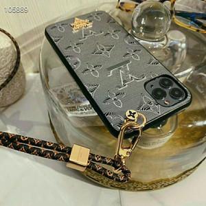 Cassa del telefono Fashion Designer per iPhone 11 11Pro max Xs verniciato Stampa della cassa del cuoio del telefono XR Xsmax superiore con laccio per iPhone 8