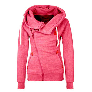 2020 Women Hoodies Zipper Women Hooded Tops Loose Cotton Long Sleeve Pocket Coat Cardigan Jacket Solid Sweatshirts Big Size 5XL