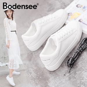 Diseñador Bodensee blanca Sneaks lona de las mujeres mujeres de los zapatos Zapatos vulcanizar ocasional del verano Apatilas Mujer más el tamaño 35-42 de la alta calidad