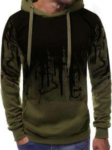 New Spring Autumn Soiald Mens Hoodie Splash print leisure Sweatshirt Tops