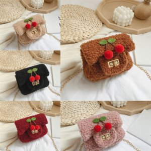 Vrqxk sattel kind wallet mann frauen junger handtaschen umhängetasche nette geldbörse cherry mode neue luxus plus handtasche designer tasche mädchen mucwq
