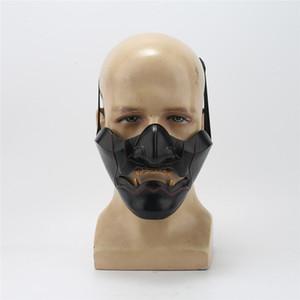 Geist von Tsushima Sakai Cosplay Maske Halbgesicht Samurai Maske Halloween Maskerade Halloween Party Harz Masken Requisiten Y1127