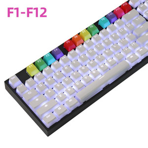 12pcs Colorful Backlit Keycaps For Cherry Mx Switch Mechanical Gaming Keyboard F1 To F12 PBT Two Color Backlight Keycaps