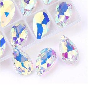 Migliore Qualità 22mm 6106 Pendente a forma di pera Drop Strass perline Gens per orecchini Collana Accessori per gioielli fai da te 1 JLLUVC
