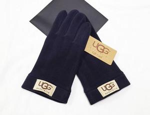 Женского Зимнего Открытого Спорт Теплого запястье перчатка Luvas femininas пункт о Inverno женских перчатки мило Luvas де Inverno Полные Пальцы