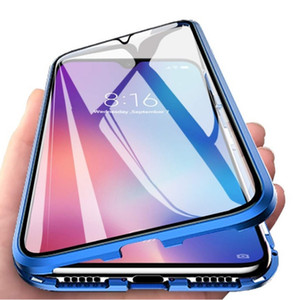 Full Body Metal Glass Magnetic Phone Case for Honor 9X Tempered Glass Bumper Hard Cover Double Sided Glass Case