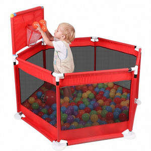 Baby Playpen Fence Folding Barrier Kids Park Children Play Pen Oxford Cloth Game Infants Tent Ball Pit Pool Baby Playground Ntw4#