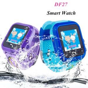 Anti-Lost Location DF27 Waterproof Baby Smart Swim Phone GPS Watch SOS Tracker IP67 Call Kids Device Safe Children Monitor Fvtcv