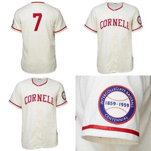 Cornell Big Red 1959 Home Jersey-Shirt der kundenspezifischen Männer Frauen Jugend-Baseball-Shirts Alle Namen und die Nummer doppelt vernähte