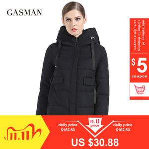 Gasman Kadınlar Kış Coat Kısa Moda İnce Aşağı Ceket Marka Bayan Windproof Palto Casual Kapşonlu Bio Parka Kış 1810 201109