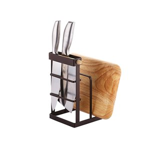 Multifunctional kitchen cutting board   pot cover rack storage rack knife holder