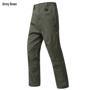 Total Pressure Glue Waterproof Breathable Hard Shell Pants Men's Outdoor Climbing Hunting Hardshell Camouflage Tactical Trousers 201211