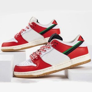 الإطار تزلج x sb dunks الأحذية الترفيه منخفضة أبيض أحمر المرأة مان حذاء رياضة habibi سكيت أحذية الرياضة