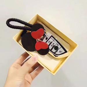 LIVRAISON GRATUITE Porte-clés L Lettre Cuir Keychains Voiture Fashion Key Clé Lanière Key Key-Portefeuille Chaîne de corde Chaîne de corde Portachiavi avec boîte