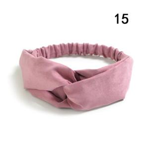 Gamuza gamuza turbante mujer banda de pelo arcos elásticos Headkerchief Sport Hairbands Head Band Nudo Diadema para niñas Headwear Headwrap Q WMTWXV