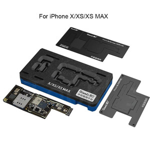 Qianli For X XS XS MAX Middle Layer Motherboard Reballing Kit Set Tin Planting Template Soldering Platform With Stencil