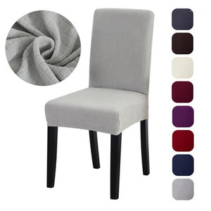 Thick Jacquard Dining Chair Cover Spandex Elastic Chair Slipcover Weding Hotel Office Banquet Party Case for Chairs1