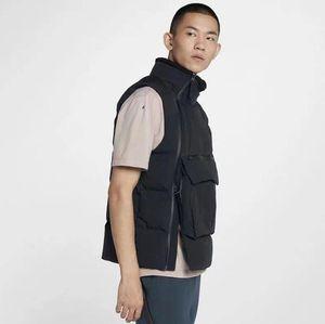 Новый Просто Mens дизайн вниз жилет моды жилет Зимняя куртка Пальто с Letters Высокое качество Открытый Streetwear одежда L-3XL Дополнительный
