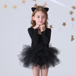 Fashion girl ballet tutu dress Professional kids dancing Party dress Performance costume Princess Wedding Girl Dress 2-8 Ys
