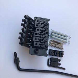 Floyd Rose 6 String Doble Shake Pull Plate Plug Bridge Tremolo System Hardware negro para la guitarra eléctrica, envío gratis