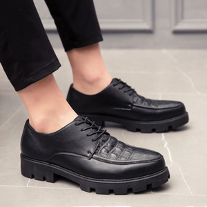 Leather Shoes Men black Sneakers Mens Dress Shoes Male lace up oxfords Footwear Leather Black White wedding party Shoes Soft