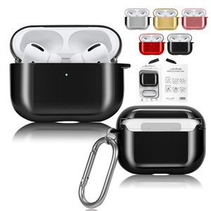 Cuffia Auricolare Bluetooth di caso per Airpods Pro Luxury placcatura PC antiurto calotta di protezione per Airpods 3 2 1 Shell per Apple Wireless
