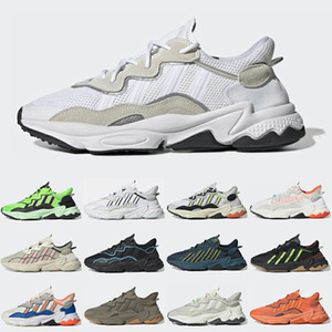 Hommes Femmes Running Chaussures Reflectif Xeno Ozweego King Push Solar Jaune Core Noir Cyan Brillant Cyan Mens Hommes Baskets Sports Sports Sports 36-45