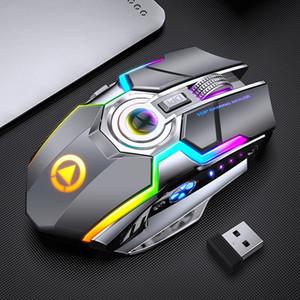REDSTORM - A5 무선 게임 마우스 충전식 조용한 LED 백라이트 광학 USB 7 키 랩탑 컴퓨터 용 RGB