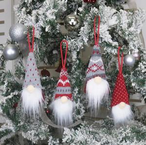 Natale d'attaccatura della Santa pendenti di decorazione di Natale fatto a mano Dall attaccatura della Santa Pendenti Nordic peluche Elf giocattolo dell'albero di Natale