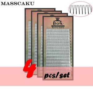 Free shipping 4 cases lot Pre fanned Eyelash Extension 3d 4d 5d 6d Lash Premade Volume fans Korea Silk Pbt Lash Extension Tray