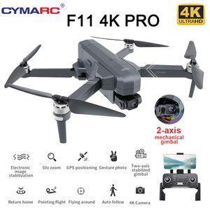 SJRC F11 PRO 4 K GPS Drone 5G WIFI FPV Çift Kamera 2 Anis Gimbal 50x Zoom Profesyonel Fırçasız Quadcopter RC Dron SG906 Pro 2 201103