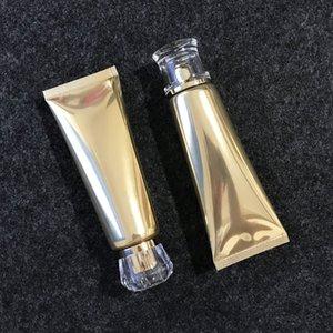 1pcs 80g de ouro Tubo recarregáveis Esvaziar Cosmetic garrafa macia com viagem Cap Squeeze fazer garrafas Ups contentores