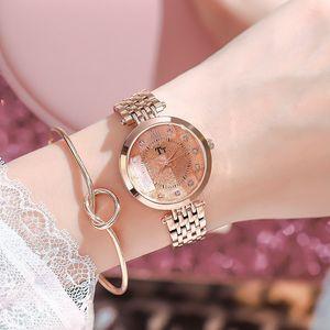 TT Watch New Trend Fashion Watch Female Steel Belt Casual Personality Simple Atmosphere Waterproof Watch