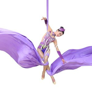 PRIOR FITNESS DIY 18Meters Yoga Aerial Silks Fabric for Acrobatic Flying Dance yoga swing trapeze inversion air therapy
