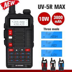 10W High Power Baofeng UV-5R Max Walkie Talkie UV 5R Max Amateur Ham CB Radio Station UV5R Dual Band Transceiver 10KM Intercom