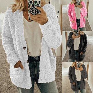 S-2XL Plus Size Autumn Winter Sweaters Women Cardigan Casual Pocket Thick Warm Loose Plush Fleece Sweater Female Tops Sweater1
