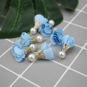 40шт шифон ткань жемчужный цветок кисточки ювелирные изделия DIY Craft Saceates Bringe браслет ожерелье серьги аксессуары мини кисточек H JLLMKC