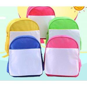 Schoolbag 50pcs Sublimazione Diy Kindergarten Blank stampa di trasferimento dei bambini dei bambini del sacchetto di libro calda