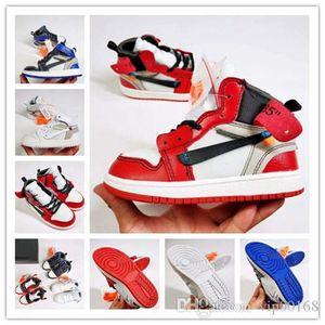 Lüks tasarımcı Çocuk 1s Space Jam Basketbol Ayakkabı Çocuk Boy Kız gençlik beyaz Midnight Navy Sneakers Toddlers kapalı Concord Gym Kırmızı Bred