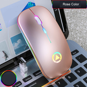 2020 Hot Rechargeable Wireless Silent LED Backlit Mice USB Optical Ergonomic Gaming Mouse For Laptop Computer PC