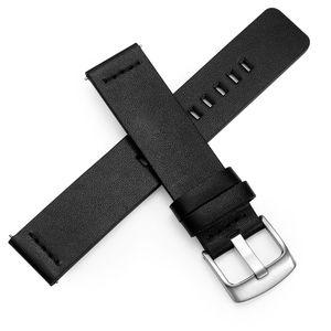 Натуральная кожа 20мм 22мм часы ремешок Ремешок для Samsung Galaxy Часы 42мм 46мм передач S3 ремешок Quick Release 18мм 24мм