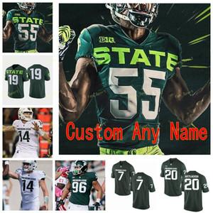 Benutzerdefinierte Michigan State Spartans College Football Jersey 11 Connor Heyward 12 Rocky Lombardi 13 LiteS Nelson 14 Brian Lewerke genäht