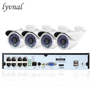LYVNAL H.265 Security ip camera 2mp 1080p poe kit Surveillance 4ch poe System UHD 8ch nvr plug and play onvif 8ch kit
