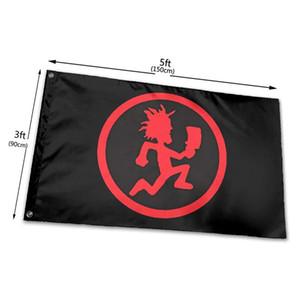 Juggalo Hatchet Man ICP Seas Flag 3x5ft Печать 100D полиэстер Крытый Открытый Висячие украшения Флаг с латунными креплениями Бесплатная доставка