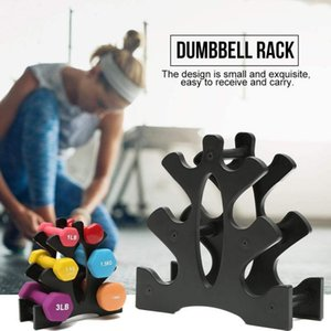 Racks And Shelves For Storage Portable Home 3-Tier Dumbbell Holder Home Gym Exercise Weight Rack Fitness Equipment Accessories