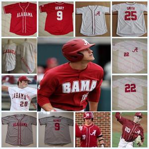 Custom Alabama Crimson Tide Baseball Jersey Connor Prielipp Connor Shamblin Antoine Jean Casey Cobb Brock Guffey Alabama Jersey S-5XL