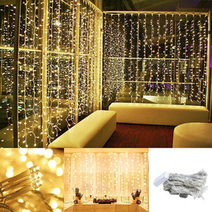 3x1 3x2 3x3m LED Garland Curtain Waterfall Lights Christmas Decorations for Home New Years Ornaments New Year Christmas Decor