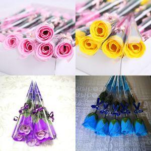 Originalità Sapone Flower Single Rose Pratico Pratico Accelori Moda Donna Man Soprawort Valentino Regalo Dono Soggiorno Dono Soggiorno 0 53ry K2